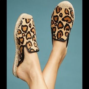 Sam Edelman Leopard Espadrille Slip on Sandals